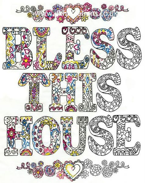 Bless This House Zenbroidery